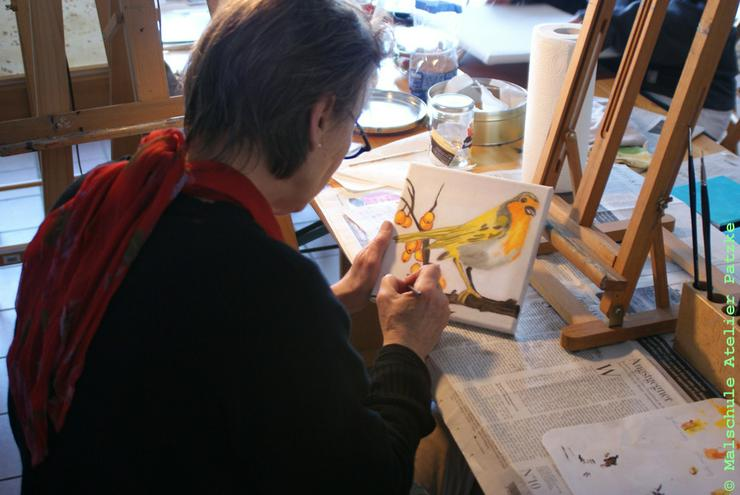 Bild 6: Malkurs Ölmalerei