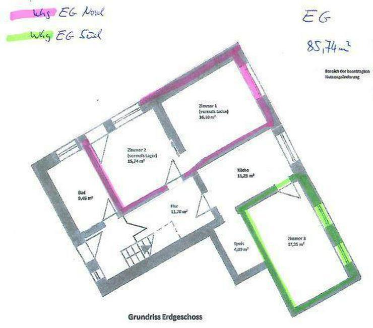 Renovierungsbedürftiges Einfamilienhaus mit Nebengebäuden und Garage - Wohnung kaufen - Bild 1