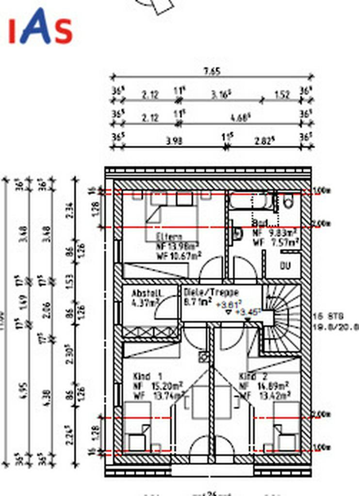 Bild 4: Neubau: Nur noch eine moderne Doppelhaushälfte in Mändlfeld mit Blick über die Felder z...