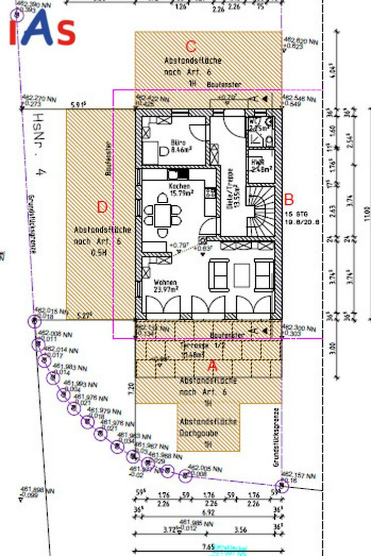 Bild 3: Neubau: Nur noch eine moderne Doppelhaushälfte in Mändlfeld mit Blick über die Felder z...
