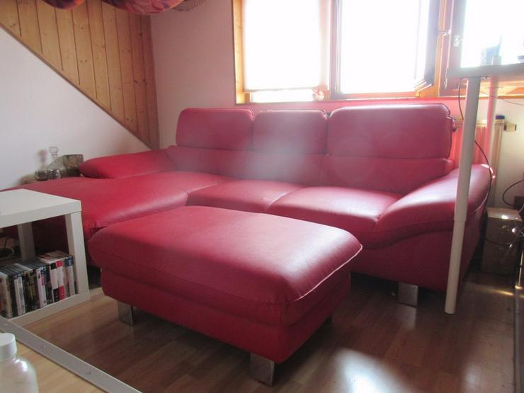 Kunstledercouch/sofa mit Ottomane - Sofas & Sitzmöbel - Bild 1