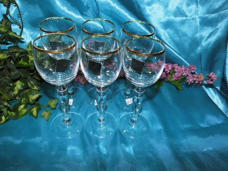 Bild 2: FLIRT Sherry - Gläser, Likörglas mit Goldrand