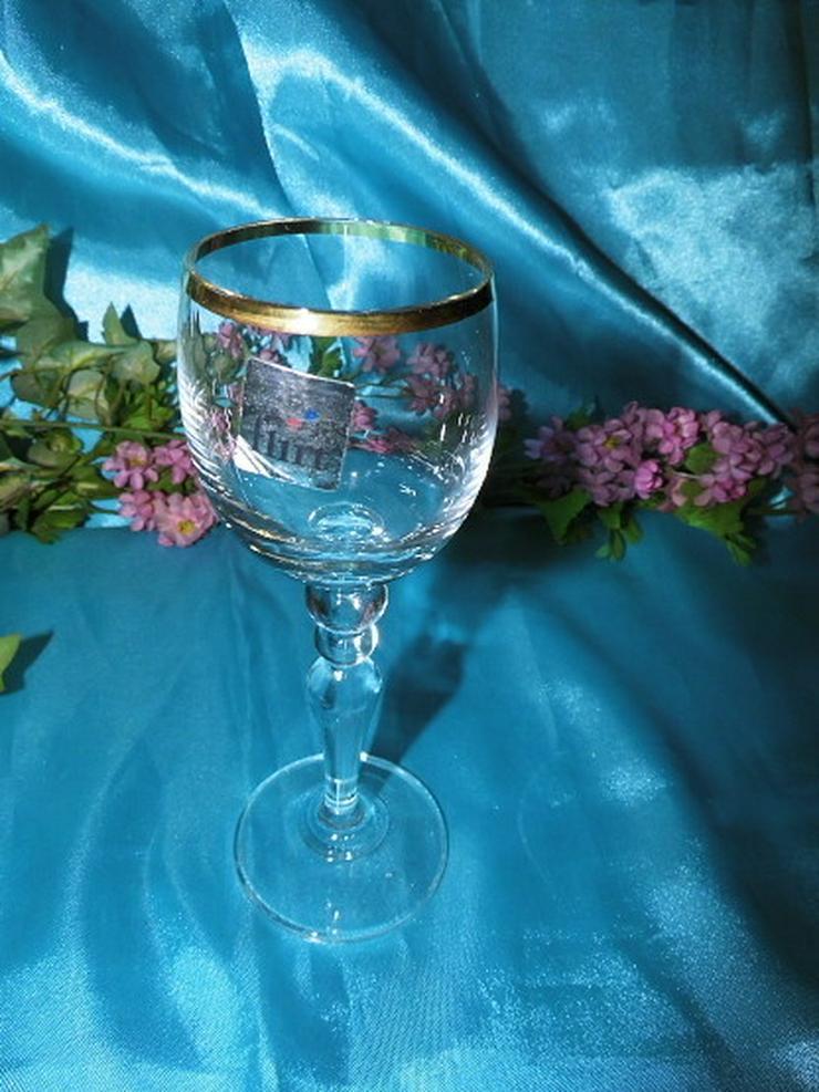 Bild 3: FLIRT Sherry - Gläser, Likörglas mit Goldrand