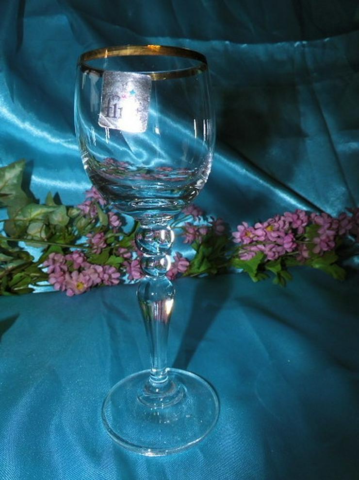 Bild 4: FLIRT Sherry - Gläser, Likörglas mit Goldrand