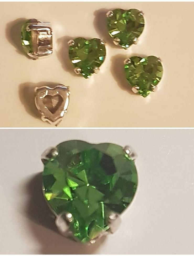 Swarovski Kristal-Herzen - Farbe 'Peridot'