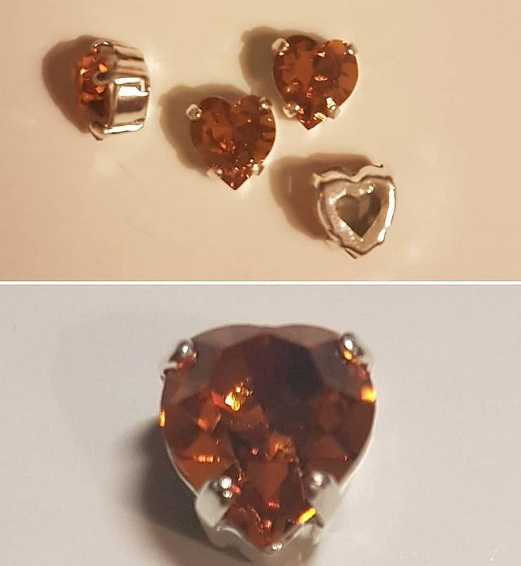 Swarovski Kristal-Herzen - Farbe 'Topaz' - Anhänger - Bild 1