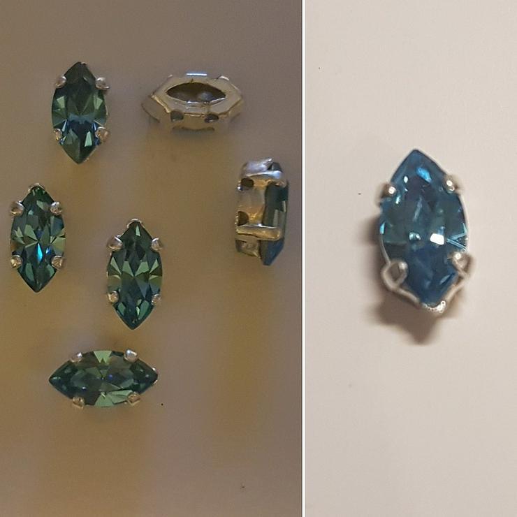 Swarovski Kristal-Stein spitzoval aquamarine