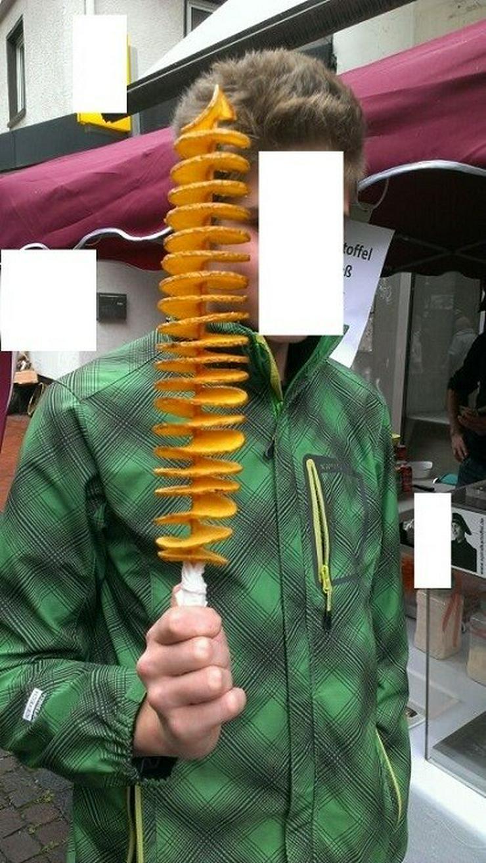 Bild 3: Spiralkaroffel Kartoffelchips