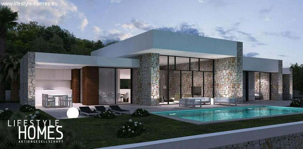 : moderne, 1 geschossige Luxus-Villa im Bauhausstil (ohne Grundstück) - Haus kaufen - Bild 1