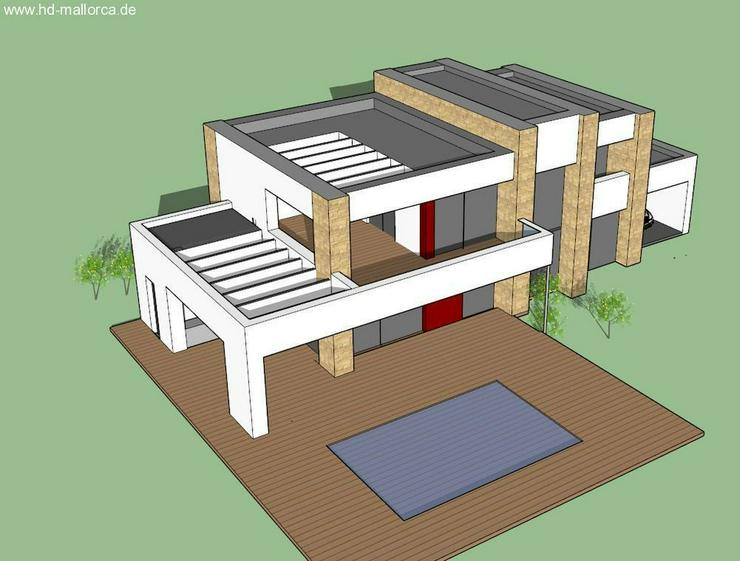 : Luxus-Neubauvilla mit 3 SZ, Naturstein-Optik, Holz100, Energiesparhaus (ohne Grundstück... - Haus kaufen - Bild 1