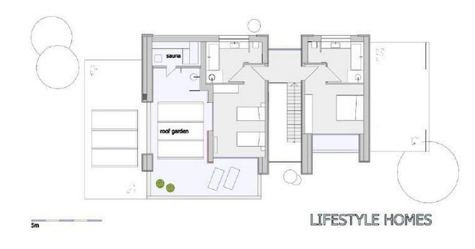 Bild 4: : Luxus-Neubauvilla mit 3 SZ, Naturstein-Optik, Holz100, Energiesparhaus (ohne Grundstück...