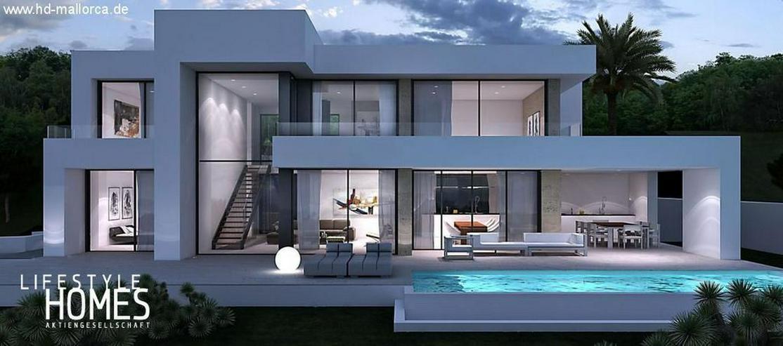 : futuristische Luxus Neubauvilla im Bauhausstil mit 4 SZ (ohne Grundstück) - Haus kaufen - Bild 1