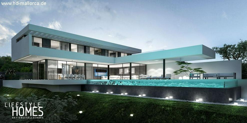 : Großraum Bauhausstil Luxus Villa mit 4 SZ (ohne Grundstück)