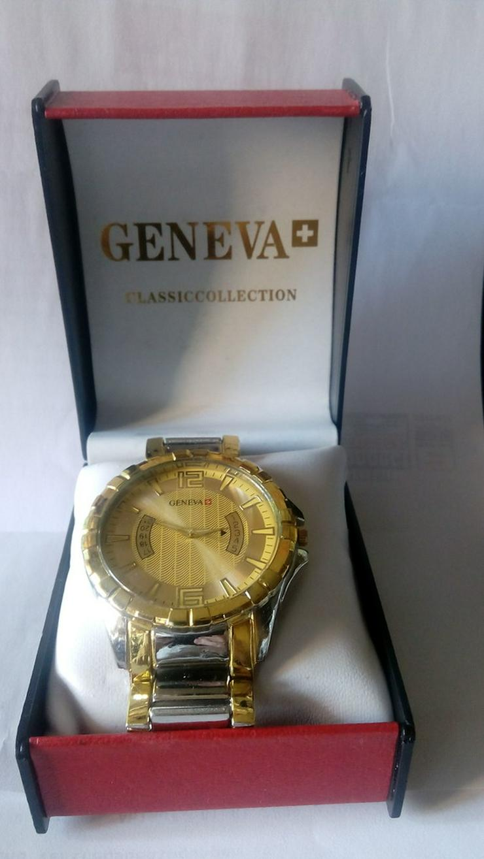 Bild 2: Geneva Elegant Gold Damen/Herren Uhr