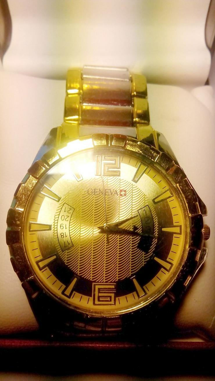 Geneva Elegant Gold Damen/Herren Uhr - Damen Armbanduhren - Bild 1