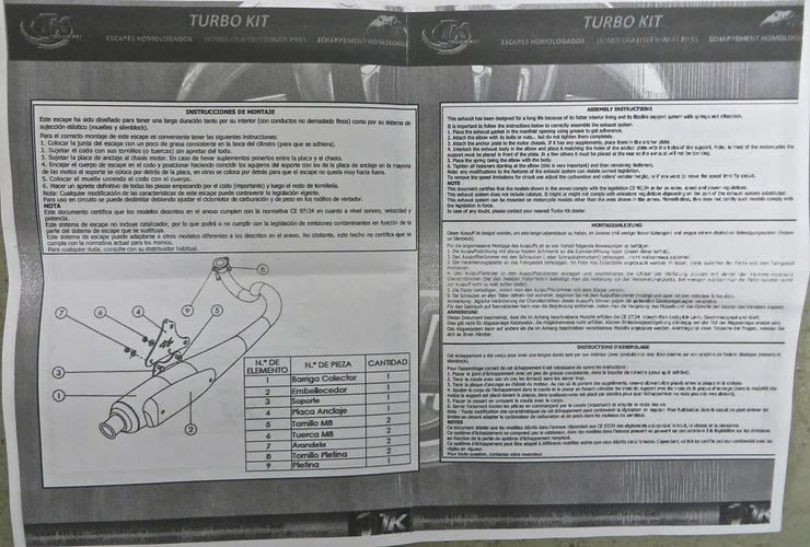 Bild 5: Sportauspuff Turbo Kit / ABE für Piaggio Roller