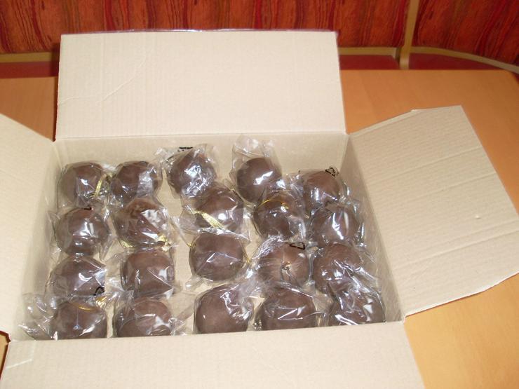 20 Stück Weihnachtskugeln- Dekokugeln braun