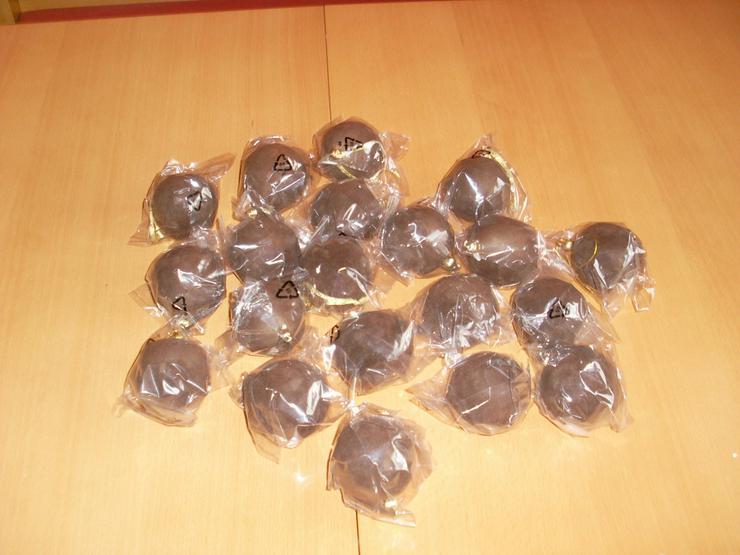 Bild 4: 20 Stück Weihnachtskugeln- Dekokugeln braun