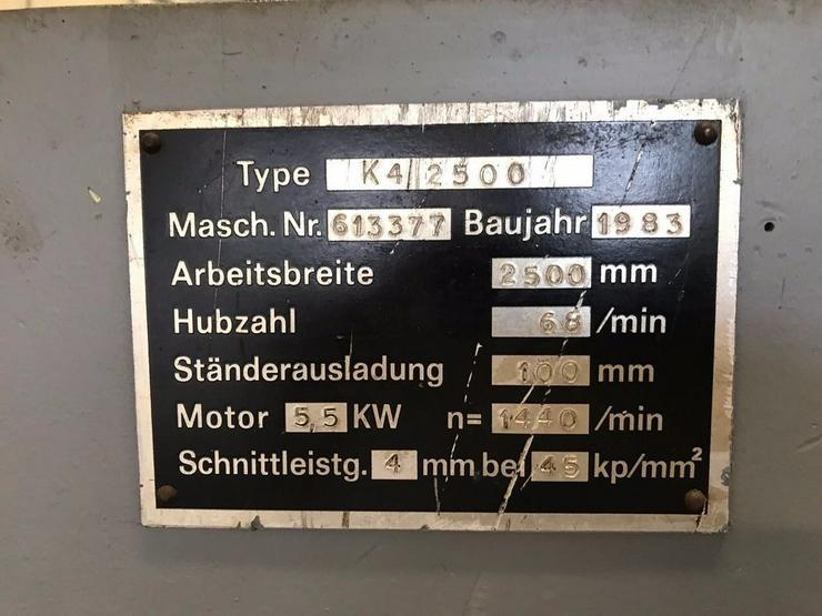 Bild 2: Tafelschere FISCHER 2500 x 4 mm