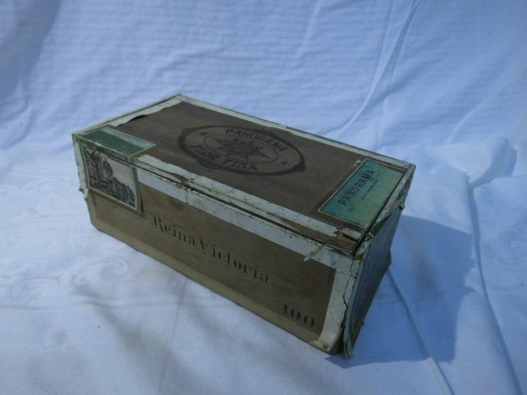 Antike Schachtel Zigarren Panorama / Mexikanis