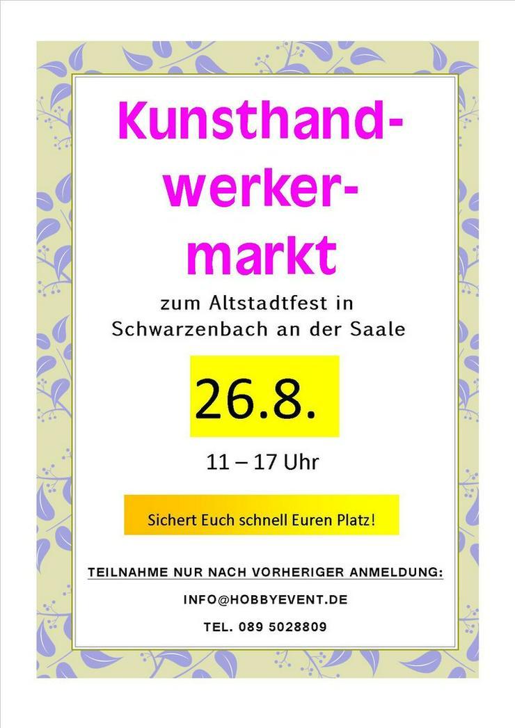 Kunsthandwerkermarkt am 26.8. in Schwarzenbach