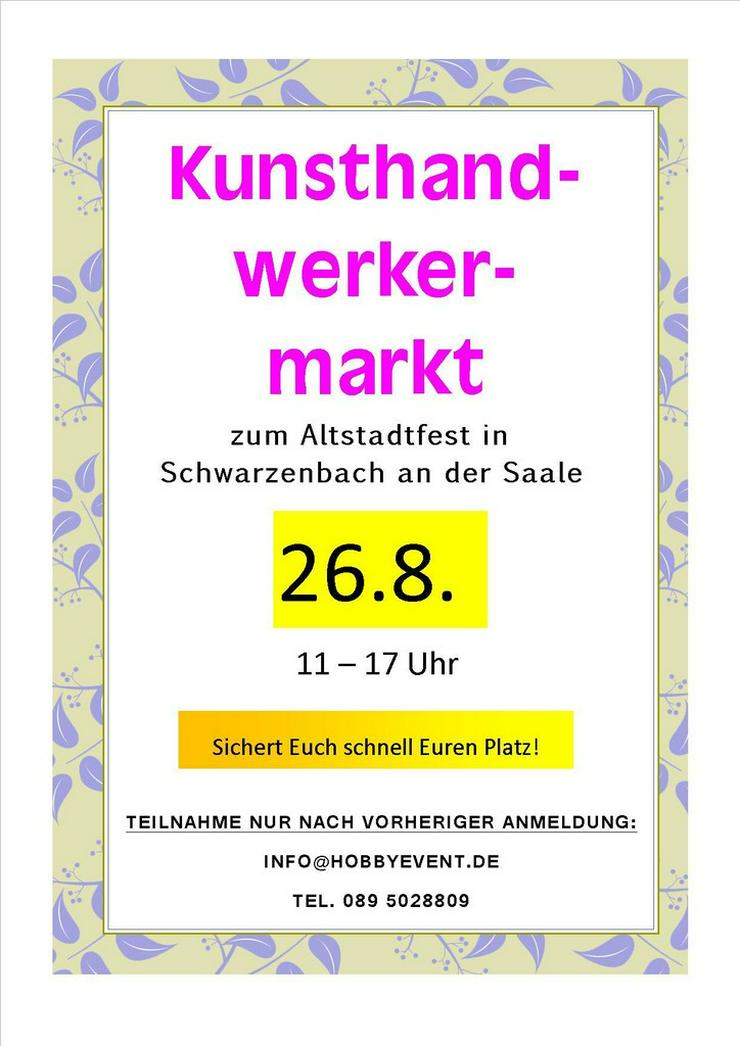 Langschläfer-Flohmarkt in Schwarzenbach am 25.