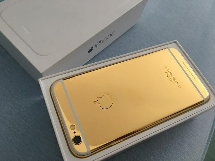 Apple iPhone 6 NEU 24K Gold 24ct Schwarz/Gold