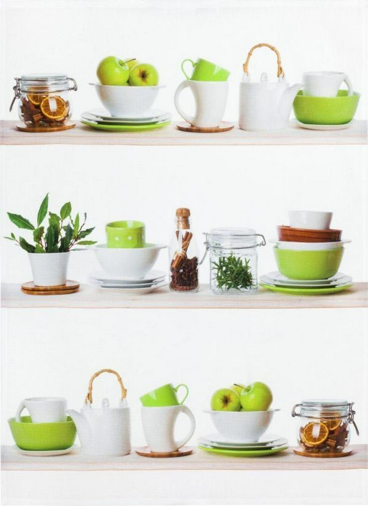 Kracht Geschirrtuch Digitalprint Küchenregal