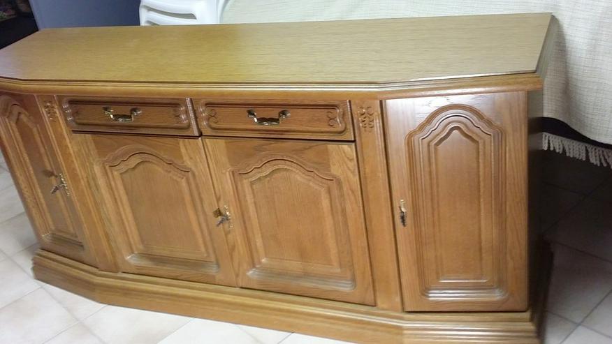 Sidebord & Schreibtisch aus Eiche rustikal - Schränke & Regale - Bild 1