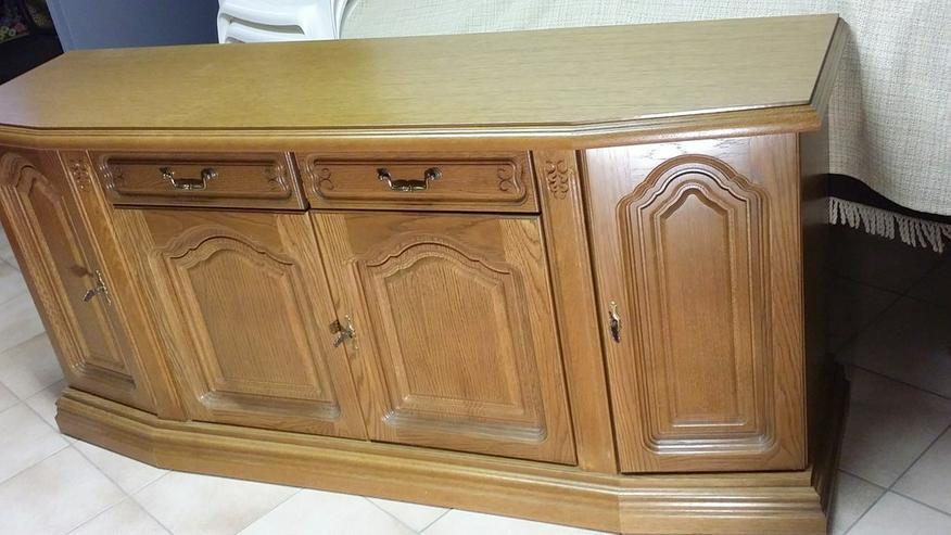 Bild 3: Sidebord & Schreibtisch aus Eiche rustikal