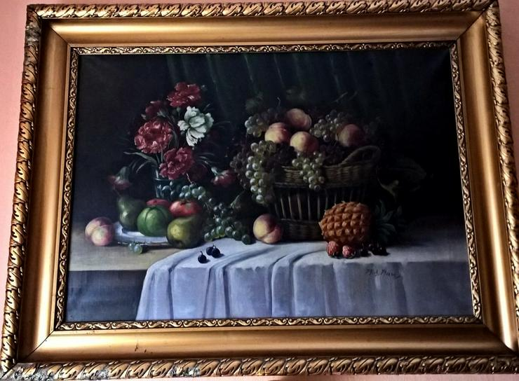 Ölgemälde (Obsttisch- von R. Rau) - Weitere - Bild 1
