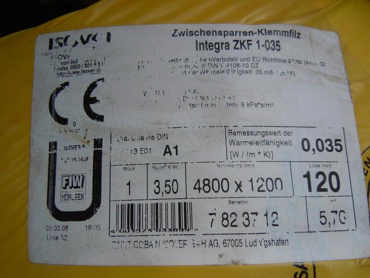 isover Zwischensp.-Klemmfilz-Wärmedämmung 120mm - Abdichten & Isolieren - Bild 3