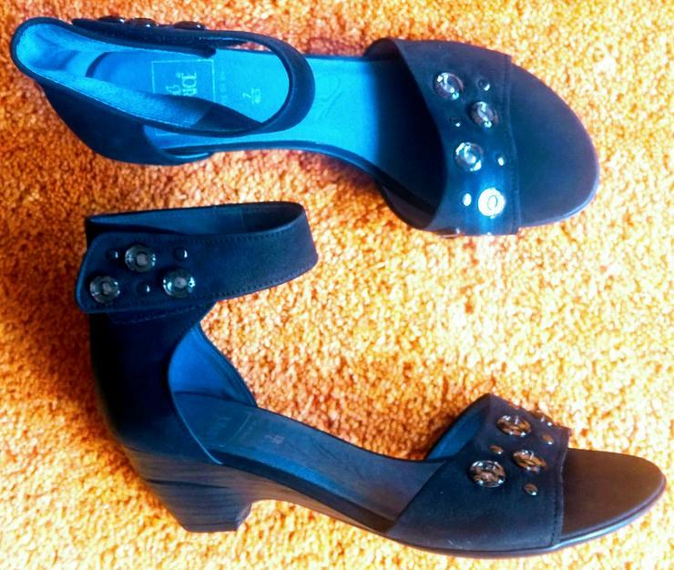 NEU Damen Schuhe Leder Glitzer Gr.40,5 Caprice