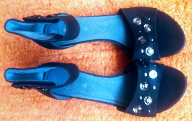 Bild 2: NEU Damen Schuhe Leder Glitzer Gr.40,5 Caprice