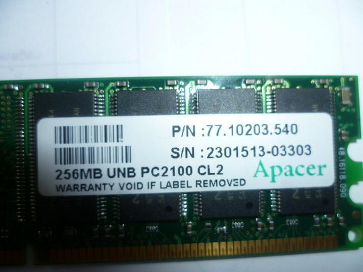 256 MB UNB PC 2100 CL2 Apacer - CPUs, RAM & Zubehör - Bild 1