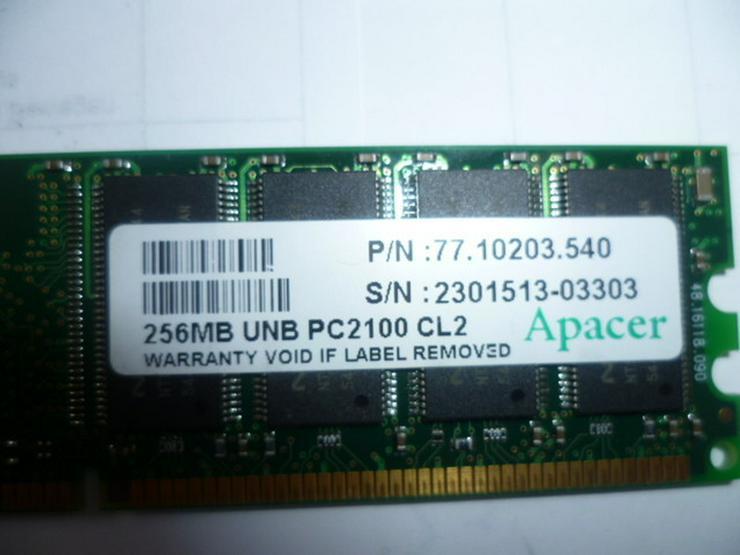 Bild 3: 256 MB UNB PC 2100 CL2 Apacer