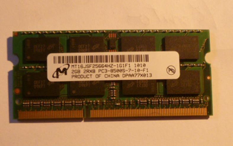 2 GB Ram MT 16 JSF  25664HZ-1GF1 1010