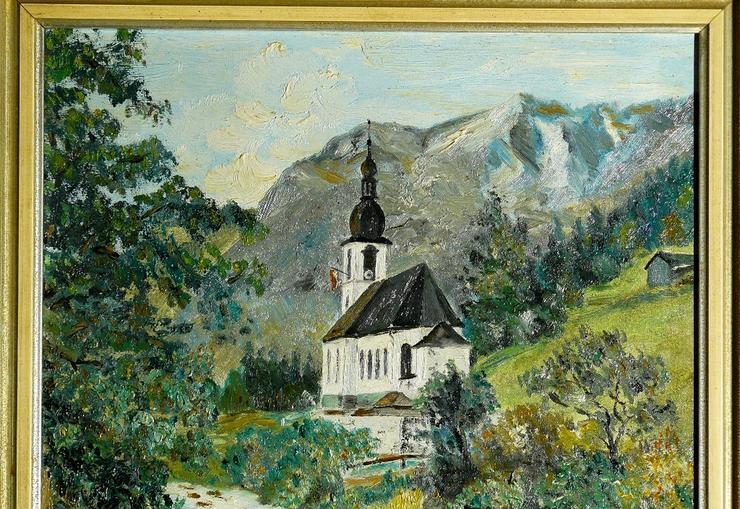 Bild 2: Gemälde Ölgemälde St. Sebastian Ramsau (B048)