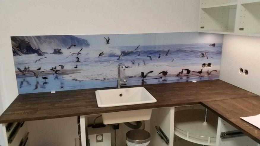 Küchenrückwand / Spritzschutz aus Glas bedruckt