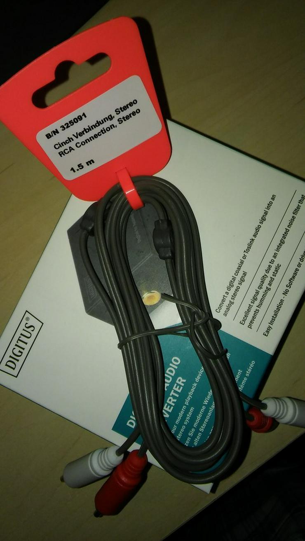 Digitus Audio Konverter DS-40133 und Kabel