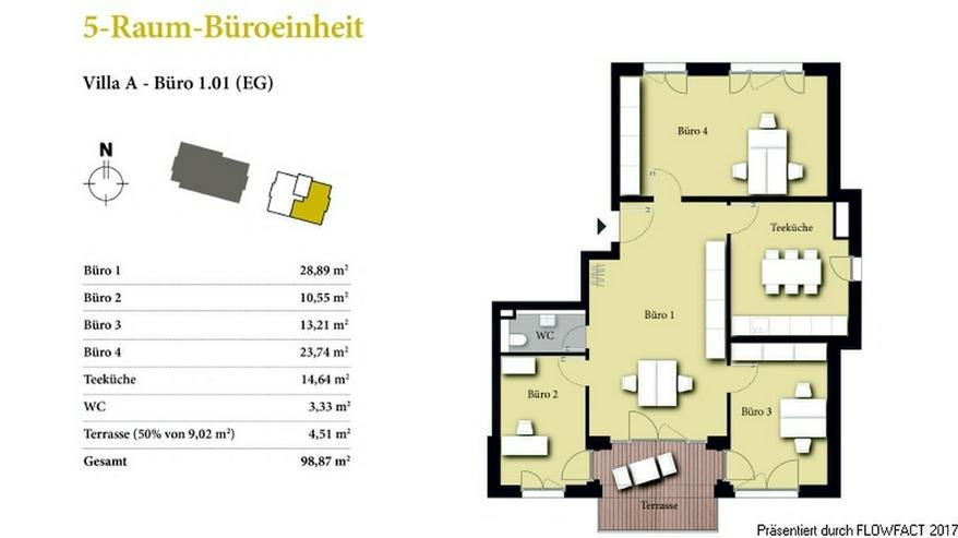 Borngrund Villen - Attraktive Erdgeschoss-Büro/-Praxiseinheit mit vier Räumen nahe Frank...