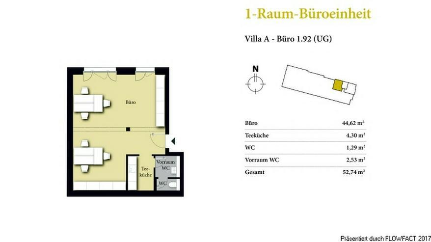 Borngrund Villen - Modernes 1-Raum-Büro/-Praxiseinheit in verkehrsgünstiger Lage
