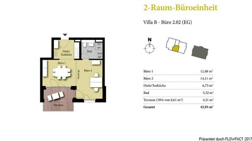 Bild 2: Borngrund Villen - Moderne 2-Raum-Büro/-Praxiseinheit in verkehrsgünstiger Lage