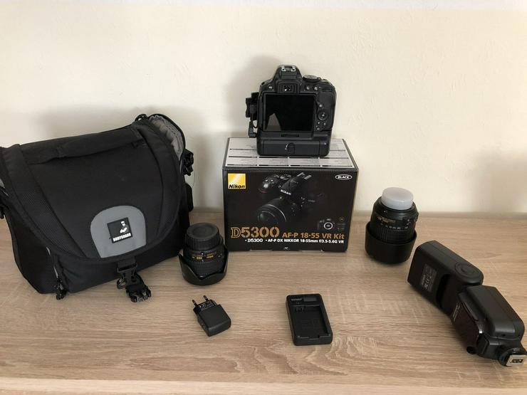Bild 2: Nikon DLSR D5300 mit viel zubehör