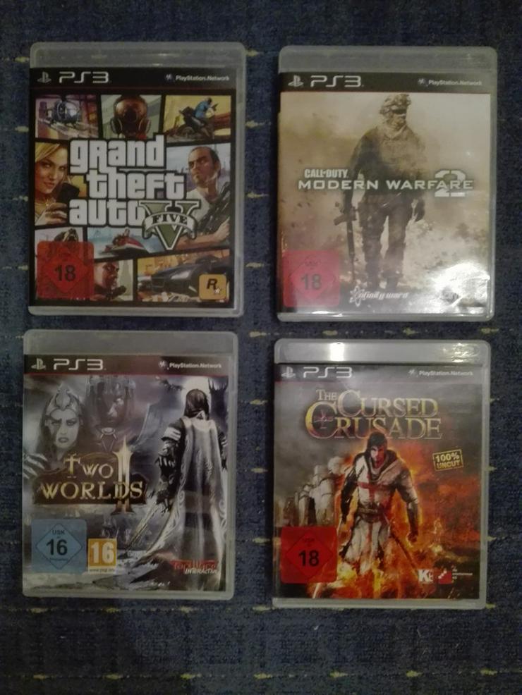 Bild 5: PS3 slim + 2 Controller + Spiele (120€ VB)