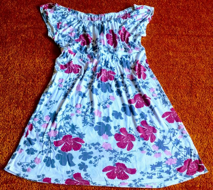 Damen Kleid Sommer Empire Tunika Gr.M