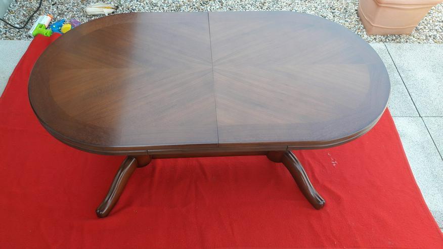 Tisch oval verstellbar mit 4 Stühle