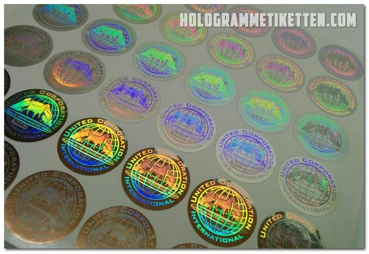 Hologramm Etiketten druck mit Ihrem Logo