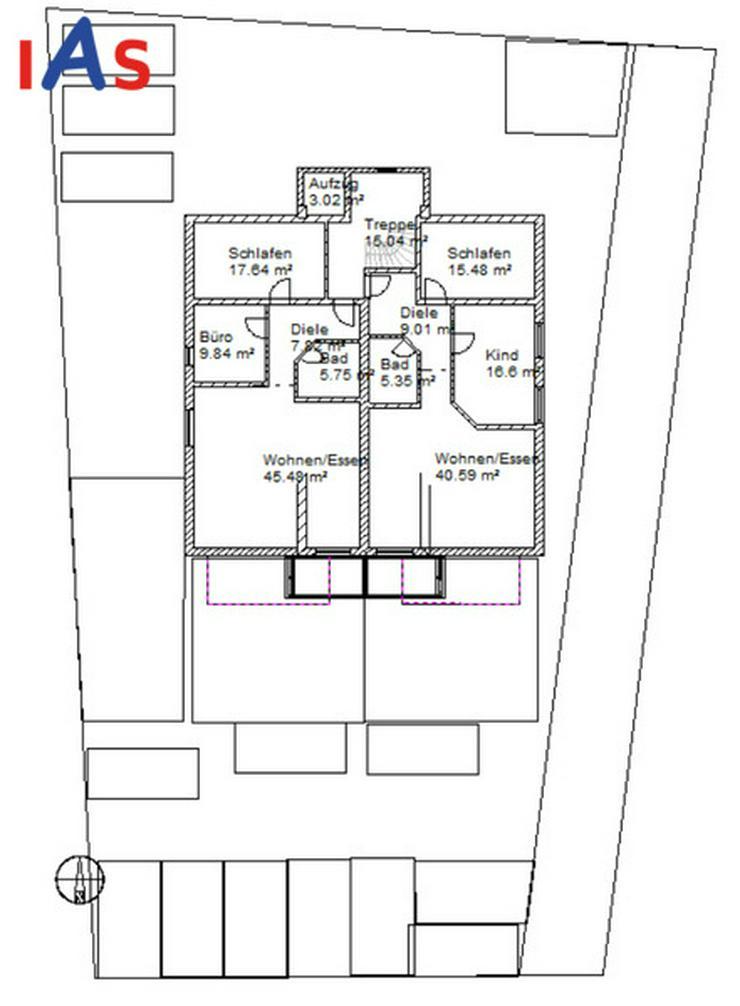 NEUBAU! Moderne 3-Zimmer DG-Whg. 78 m² mit Balkon und Aufzug, KfW55 zu verkaufen!