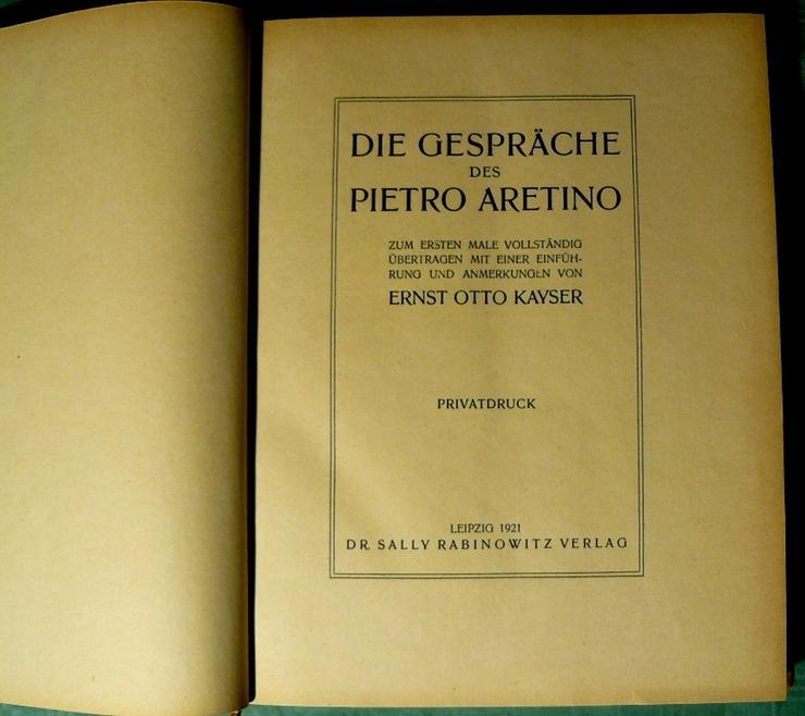 Gespräche des Pietro Aretino von 1921 (BU007)